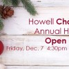 The Howell Chamber invites members to the Annual Holiday Open House on Friday, December 7th